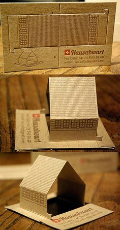Custom Die Cut Interactive Business Cards