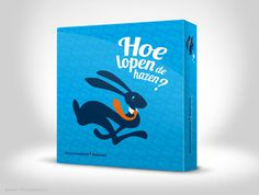 Hoe lopen de hazen (The Ad Agency, www.theadagency.nl) #packaging #design #graphic #illustration #game