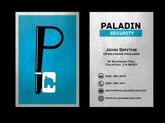 Paladin Security #security #paladin #house #business #card #design #home #letter #key #logo