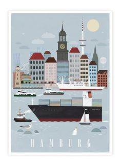 Hamburg City Poster #poster #hamburg
