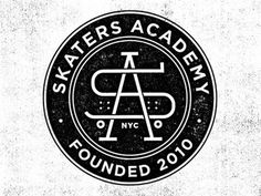 Dribbble - Skaters Academy by Mikey Burton #typography #logo
