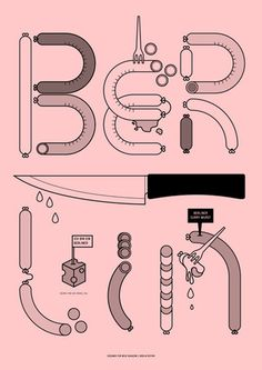 Neue Magazine : Rob van Hoesel #pink #graphic #sausage #cover #knife #berlin #magazine