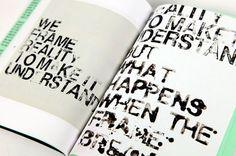 Laia Sacares. We Frame Reality Editorial Design #design #graphic