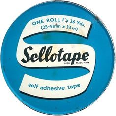 Delicious Industries: Tiny Sellotape® Tins #packaging #graphic #vintage