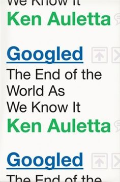 The Book Cover Archive: Googled, design by Christopher Brand #ken #book #googled #cover #wiseman #brand #auletta #ben #christopher