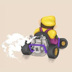 Wario - Mariokart64 #Mario #Wario #illustration #gaming #N64 #Mariokart #Retro #villain #nintendo