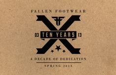 Fallen Footwear #design #graphic