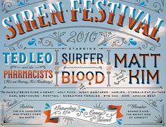 Village Voice Siren Fest | Jessica Hische #beautiful #lettering #poster #typography