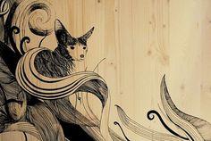 Hugo Boss Orange Concept Store Mannheim #fox #in #design #germany #illustration #wall #painting #made