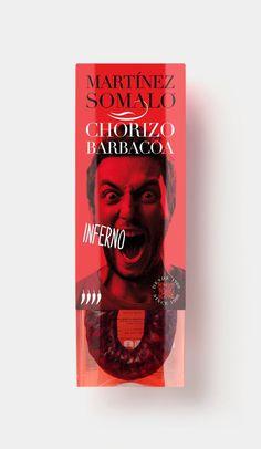 Diseño de etiquetas #barbacoa #chorizo #red #espaã±a #packaging #design #graphic #logroã±o #food #photography #pack #rioja