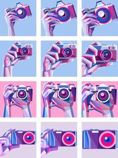 Avatars for The New Flickr on Behance #illustration #vector