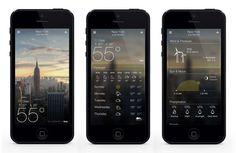 brand new Yahoo! weather app #user #interaction #design #interface #iphone #digital #photography #app #typography