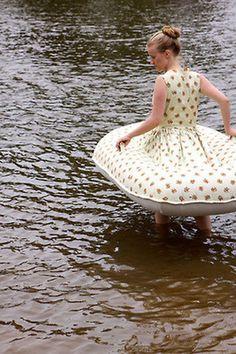 (via Built In Floaties: Boat Dress | Incredible Things) #pillow #fun #dress