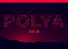 POLYA /// Free Font on Behance #typography