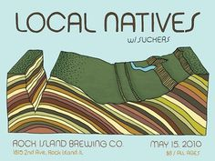 Chris Gregori » Local Natives #chris #gregori #design #colorado #illustration #gigposter #poster