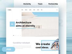 Selene : Free Clean Architecture PSD Template