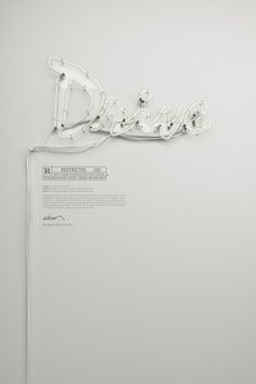 DRIVE neon / OFF on the Behance Network #poster #white #movie #drive #neon sign