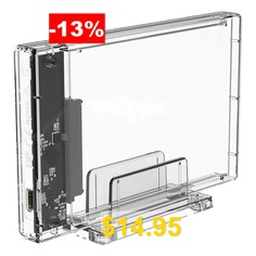 ORICO #2159C3 #2.5 #inch #10Gbps #Hard #Drive #Enclosure #with #Holder #- #TRANSPARENT