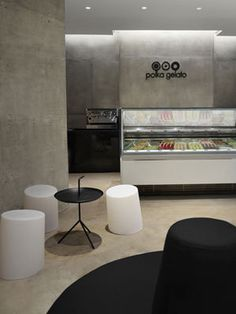 Branding agency award-winning design interiors architect brand London #interior #stone #vonsung #london #design #contemporary #gelato #architecture #polka #lime