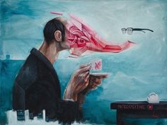 Introspective by Bayo #painting #bayo #art