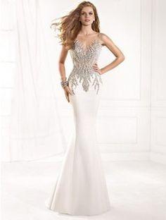 Mermaid gown, beadings