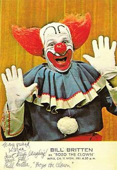 Bill Britten as Bozo the Clown