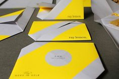 RAY LEMON branding, invitation concept & web design on the Behance Network #folded #prints