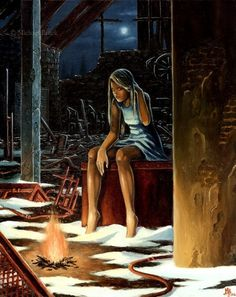 Michaël Brack » Blog Archive » Le feu #painting #fire #girl