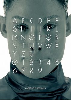 Human Core on the Behance Network #typeface #image