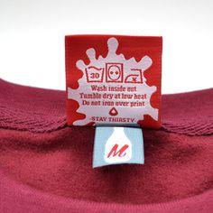 Milk Sweater Label #fashion #design #graphic