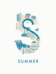 #summer #typography #illustration #season