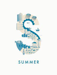 #summer #typography #illustration #season