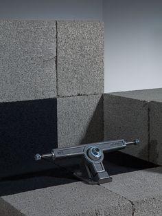 Cinder Block and skateboard truck shoot #century #block #raw