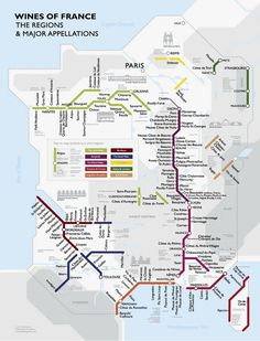 This is really rather handy, and very close to how we try and remember the location and order of French wines – #wine #vector #subway line