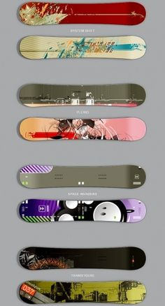 Snowboards by Niketo #abstract #niketo #vector #snowboard