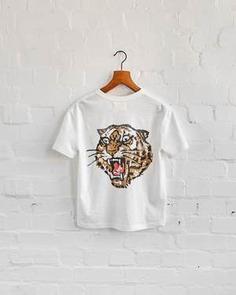 lucky tiger slub t-shirt graphic. t-shirt by P&Co