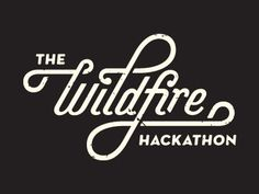 Dribbble - Hackathon Type by Gustav Holtz #hackaton #wildfire #typography