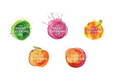 The Great Catering Company #logo #food #branding #watercolour