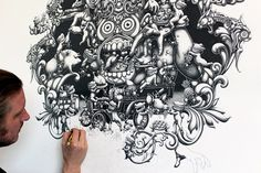 The Joyriders - 2011 on the Behance Network #graphite #drawing #the #illustration #joyriders