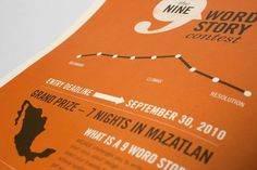 The Nine Word Story Contest on Branding Served #infographics #orange #white #black