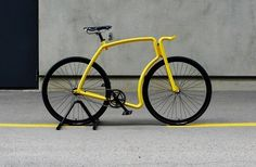 Twibfy #simple #yellow #black #bicycle #unique #frame