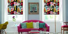 Designer Pop Art Roman Blinds #interior #blinds #pop #roman #art