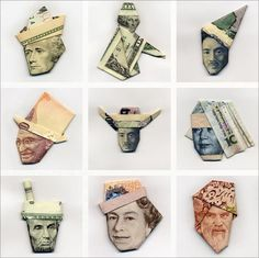 Moneygami: The art of paper money folding #folding #paper #money