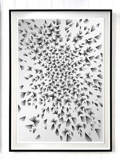 Kai and Sunny | Stolen Space gallery - London - 2010 #geometry #drawing #butterfly #kai and sunny