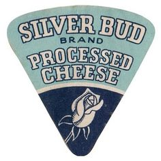 Silver Bud Brand - Processed Cheese Vintage Logo #blue #logo #identity #vintage