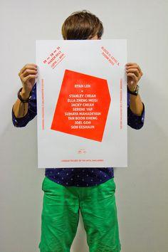 Transpire - A2 Double Side Silkscreen Poster #silkscreen #tactile #sg #handmade #poster #diy #singaporean #singapore