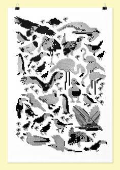 Kate Moross - Poster for Kalex Moshon Whitechapel Exhibition.