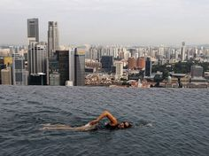 The Infinity Pool in the Sky #pool #infinity