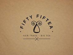Dribbble - Fifty Fiftea (logo) by vinslëv #fair #trade #bio #tea