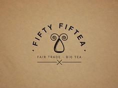 Dribbble - Fifty Fiftea (logo) by vinslëv #fair #trade #bio #tea